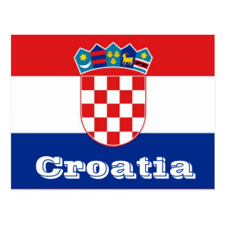 クロアチアの旗 ポストカード