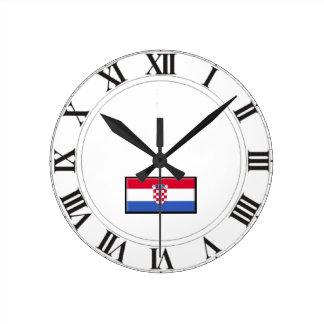 クロアチアの旗 ラウンド壁時計