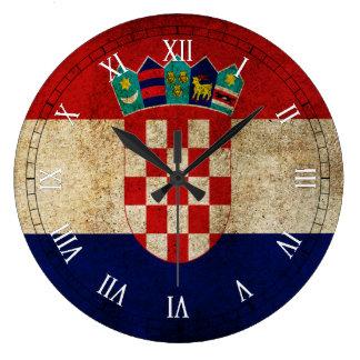 クロアチアの旗 ラージ壁時計