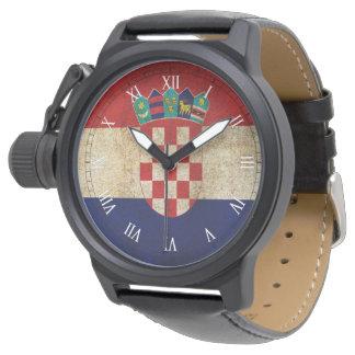 クロアチアの旗 腕時計