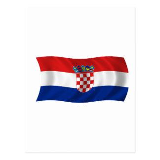 クロアチアの旗 葉書き