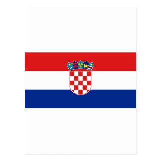 クロアチアの旗HR Hrvatska はがき