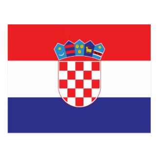 クロアチアの明白な旗 はがき