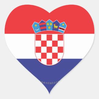 クロアチアの明白な旗 ハートシール