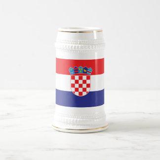 クロアチアの明白な旗 ビールジョッキ