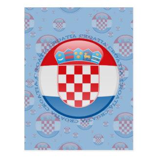 クロアチアの泡旗 はがき