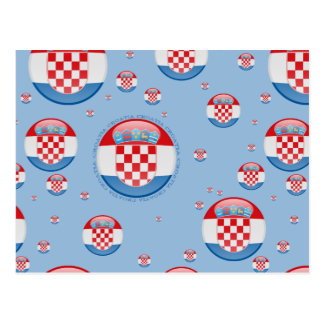 クロアチアの泡旗 葉書き