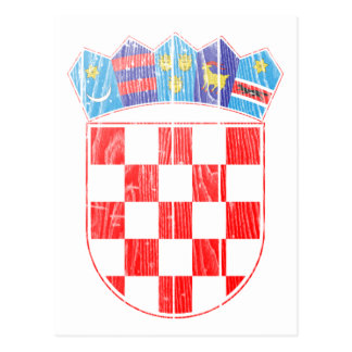 クロアチアの紋章付き外衣 はがき