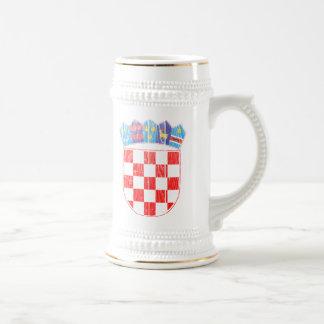 クロアチアの紋章付き外衣 ビールジョッキ