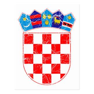 クロアチアの紋章付き外衣 ポストカード
