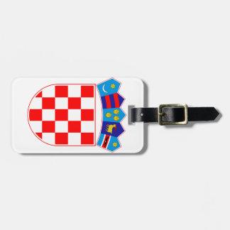 クロアチアの紋章付き外衣 ラゲッジタグ
