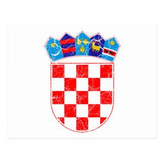 クロアチアの紋章付き外衣 葉書き