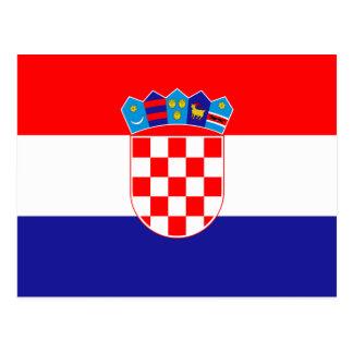 クロアチアの郵便はがきの旗 はがき