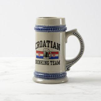 クロアチアの飲むチーム ビールジョッキ