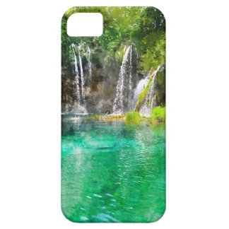 クロアチアのPlitviceの国立公園の滝 iPhone SE/5/5s ケース