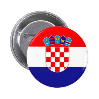 クロアチア共和国の旗 5.7CM 丸型バッジ