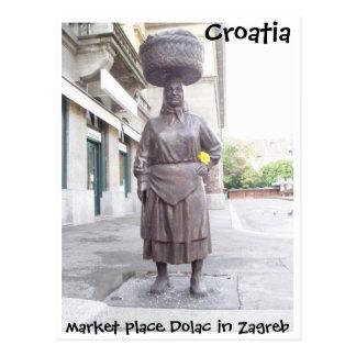 クロアチア-ザグレブ 葉書き