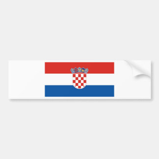 クロアチア バンパーステッカー