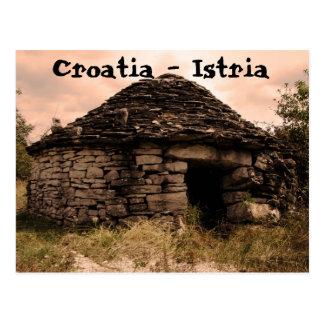 クロアチア- Istria 葉書き