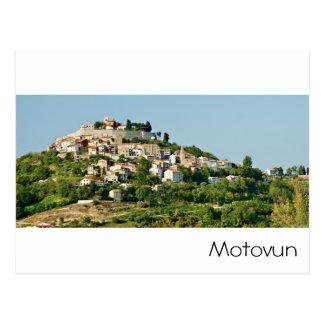 クロアチア- Motovun -アドリア海 葉書き