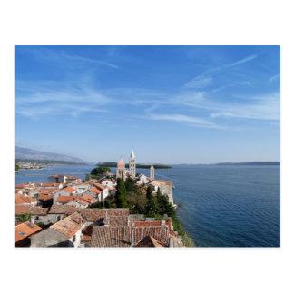 クロアチア、Rabの島および町 はがき