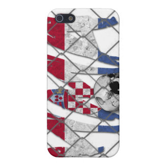 クロアチアMMAのスカルの白のiphone 4ケース iPhone 5 ケース