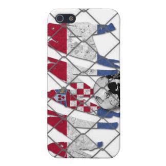 クロアチアMMAのスカルの白のiphone 4ケース iPhone 5 Case