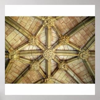 クロイスターの天井、ウェストミンスター寺院 ポスター