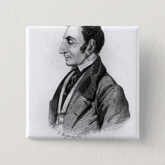 クロウドアンリーde Rouvroy Comte de聖者サイモン 5.1cm 正方形バッジ
