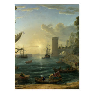 クロウド著Shebaの女王の乗船 ポストカード