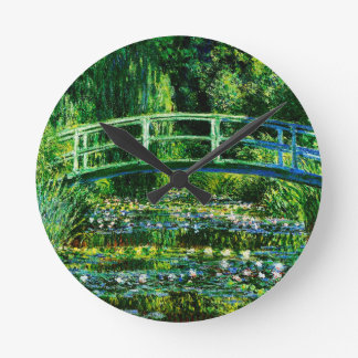 クロウドMonet水ユリの池 ラウンド壁時計