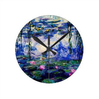 クロウドMonet水ユリ ラウンド壁時計