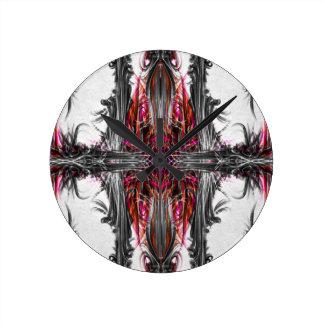 クロゴケグモのプリントの柱時計 ラウンド壁時計