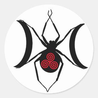 クロゴケグモのBellydanceのロゴのステッカー ラウンドシール