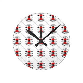 クロゴケグモ ラウンド壁時計