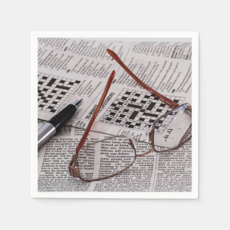 クロスワードパズルの天才 スタンダードカクテルナプキン