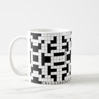クロスワード・パズルのカスタムのマグ コーヒーマグカップ