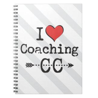 クロス・カントリーのランニングをコーチするIハート ノートブック