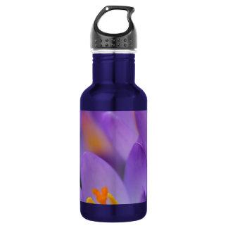 クロッカスの素晴らしく穏やかな花 ウォーターボトル