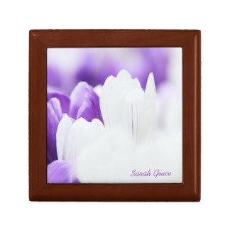 クロッカスの花のタイル箱 ギフトボックス