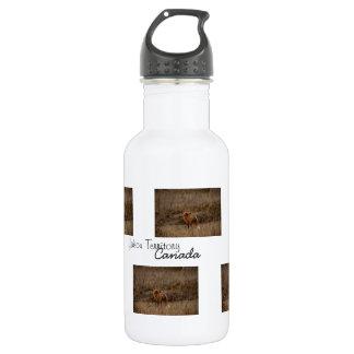 クロッカスをくんくんかいでいるキツネ; ユーコン準州の記念品 ウォーターボトル