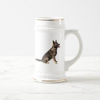 クロテンのジャーマン・シェパード犬 ビールジョッキ