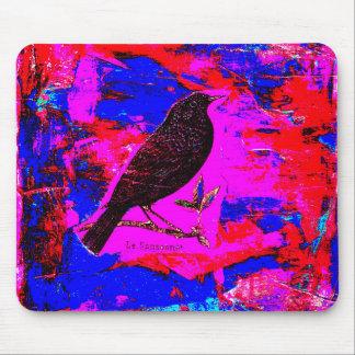 クロドリの混合メディアのデジタル芸術 マウスパッド