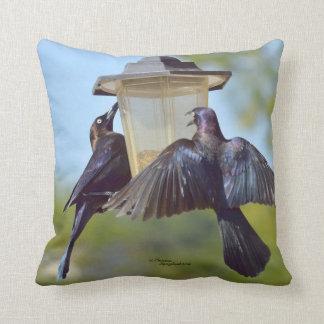 クロドリのGracklesの鳥のSpiegelandの枕 クッション