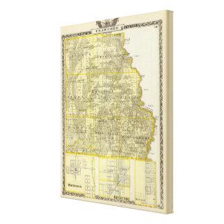 クロフォード郡、ロビンソンの地図 キャンバスプリント