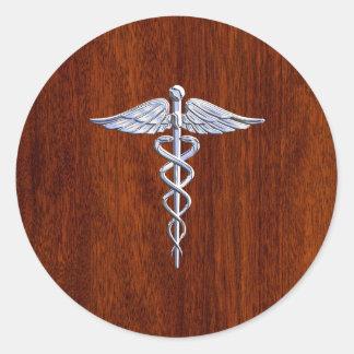 クロムはケリュケイオンの医学の記号のマホガニーブラウンを好みます ラウンドシール