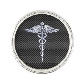 クロムはケリュケイオンの医学の記号カーボン繊維を好みます ラペルピン