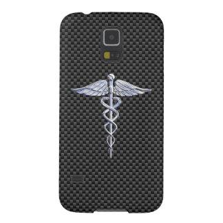 クロムケリュケイオンの医学の記号カーボン繊維の装飾 GALAXY S5 ケース