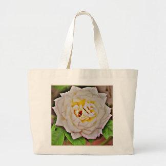 クロムジャンボトートバックの白いバラ ラージトートバッグ