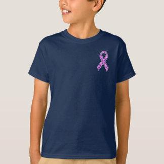 クロムスタイルの水晶ピンクのリボンの認識度のニット Tシャツ